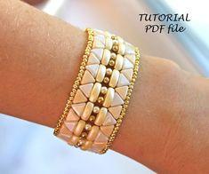 Beaded bracelet pattern Bracelet tutorial Bead pattern | Etsy