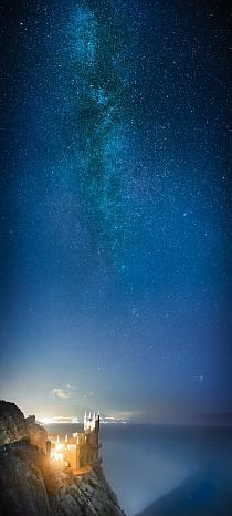 Swallow's Nest and Milky Way - Southern Ukraine