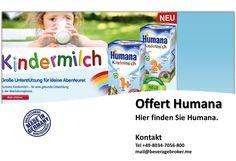 Humana Humana Babynahrungen Finden Sie das richtige Produkt für eine altersgerechte Ernährung. +49-8034-7056-800 mail@beveragebroker.me