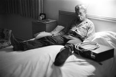 James Dean Giant in bed by Richard Miller