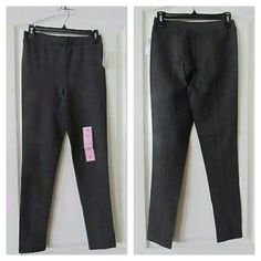 Philosophy legging NWT. Charcoal gray. This pair of Philosophy Ponte Pants will quickly become your go-to pair. stylish pants are extremely versatile and comfortable. Pair them with a loose top for a casual daytime look. Extremely versatile Relaxed stretch fit for comfort. Fiber content: 69% rayon, 26% nylon, 5% spandex Machine wash, cold in gentle cycle  Wash with like colors  Dry flat, low iron or dry clean Philosophy Pants Leggings