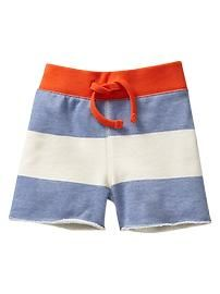 Rugby stripe terry shorts