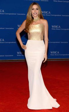 Good as White & Gold from Sofia Vergara's Best Looks  In Romona Keveza