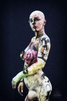 WBF 2014 | Airbrush Qualification 'Pop Art'  Photography: Atelier 'et Lux', Artist ID121: Robert Lechgner - Austria