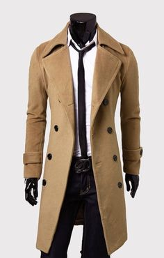 I like this casual pure color overcoat