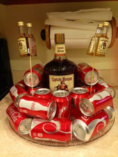 Captain Morgan & coke birthday cake - um hell yes! Birthday Cake For Boyfriend, Guys 21st Birthday, Birthday Ideas, Boyfriend Cake, Funny Boyfriend, Birthday Recipes, Husband Birthday, Birthday Diy, Captain Morgan