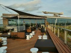 Double Tree Hilton roof terrace