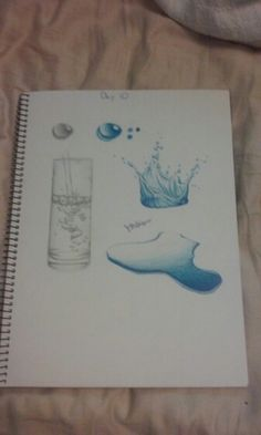 Day 10 of my AP Studio Art sketchbook. Water study in c/p and graphite by Julia DeStefano.