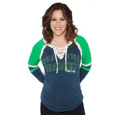 faa8e0db7a3 Seattle Seahawks Touch by Alyssa Milano Women s Fumble Recovery Long Sleeve  T-Shirt - Navy