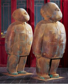"""""""China China"""" Mao-jacket-clad Chinese Cadres Sculpture by Zhu Wei"""