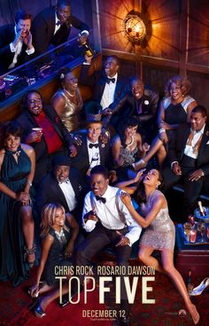 """Somewhere in 'Top Five"""" was a great movie. Chris Rock, channeling his inner Woody Allen, didn't quite get there, but overall this was a fun film. #TopFive #movies"""