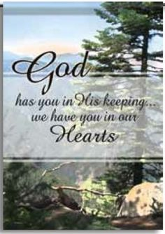 "Cemetery Inspirational Gods Keeping Double Sided Garden Flag 13 X 18 by Flag Trends. $8.95. Double Sided. Measures 13"" x 18"". Readable from both sides. Gods Keeping Flag from Flag Trends. The Flag reads God has you in His keeping... we have you in our hearts. The outdoor decorative flag measures 13"" x 18"" and is sleeved to go on a standard garden pole. FlagTrends® Classic outdoor flags feature Dura Soft®, an innovative fabric, designed specifically for decorativ..."