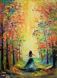 Towards the sun by Olha Darchuk Pictures To Paint, Art Pictures, Art Painting Gallery, Easy Canvas Art, Cool Art Drawings, Landscape Art, Amazing Art, Watercolor Art, Art Photography