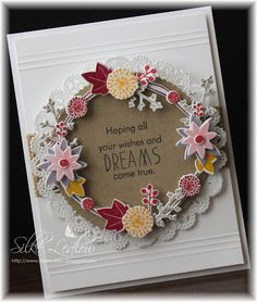 My Life: PAPERTREY INK BLOG HOP.... Card Making Inspiration, Making Ideas, Twig Wreath, Wedding Anniversary Cards, Pretty Cards, Flower Cards, Creative Cards, Cardmaking, Christmas Cards