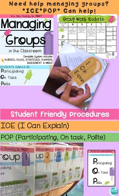 Grades 2-5 Manage small groups more effectively with these student friendly strategies! ICE POP!
