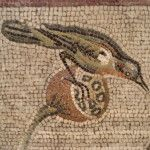 Bird detail from the Aquatic Mosaic, Pompeii, now in the Naples Museum. www.helenmilesmosaics.org