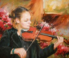 Learning The Violin by Conor Mcguire on ArtClick.ie Irish Music Art