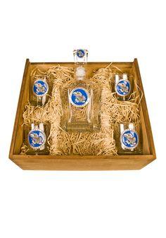 Kansas Jayhawks Decanter & Glass Boxed Set