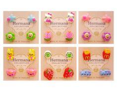 12 Pairs Lot of Cute Kids Girls Plastic Soft Post Stud Earrings for Children A02 #Stud