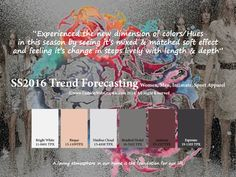 SS2016 Trend Forecasting for Women, Men, Intimate, Sport Apparel - Experienced the new dimension of colors/Hues in this season by seeing it's mixed & matched soft effect and feeling it's change in steps lively with length & depth www.FashionWebGraphic.com