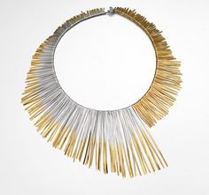 MELANIE ANKERS -UK- 'Shimmer'- Necklace in silver dipped in 24ct gold