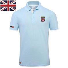 PlusMill Brand Summer Short Sleeve Plus Size Polo Shirt Man Fashion Union Flag Embroidery Casual Men's Polo Shirts Cotton Tops Men's Fashion, Mens Fashion Magazine, England Fashion, Short Sleeve Polo Shirts, Summer Shorts, Shirt Style, Men Casual, T Shirt, Shirt Men