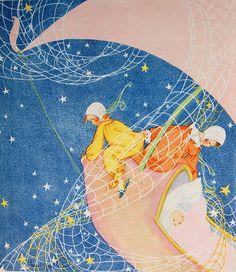 Fern Bisel Peat illustration for Wynken, Blynken, and Nod by Crossett Library Bennington College, via Flickr