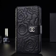43f274839a シャネル アイフォンX/8/7カバー カメリア型押し 本革 iPhone8ケース ブラック. Chanel Iphone ...
