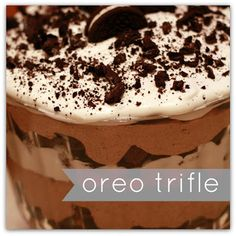 THis oreo trifle #dessert tastes AMAZING!!! At every #potluck & #family gathering it gets eaten up!