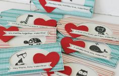 Cute Valentine's tags with a Stampin' Up Animal stamp set