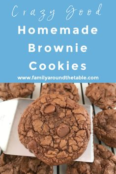 Crazy good homemade brownies will certainly satisfy your chocolate craving. Make up a batch today to fill your cookie jar. Desserts For A Crowd, Healthy Dessert Recipes, Cupcake Recipes, Delicious Desserts, Cupcake Cakes, Cupcakes, Yummy Food, Eggnog Cookies, Spritz Cookies