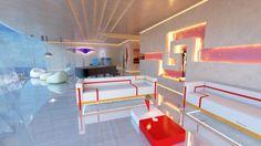 Pierre Cardin - Sculptures Utilitaires - Palais Lumiere - Homme et Femme Coffe Table - Eclair Lamp - Conquillage Clima-Radiateur - V Comò - Cobra Chair