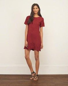 EMBROIDERED SHIFT DRESS Flagship Exclusive