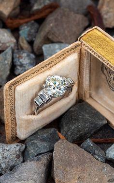 3 Carat Transitional Cut Diamond Vintage Engagement Ring . Sku AE18485 3 Carat Engagement Ring, Vintage Engagement Rings, Vintage Rings, Amethyst Jewelry, Vintage Diamond, Diamond Cuts, Wedding Rings, Pretty, Vintage Promise Rings