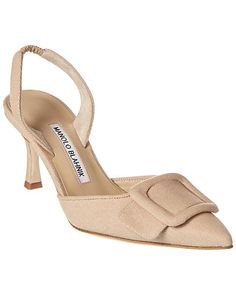 Pretty Heels, Manolo Blahnik Heels, Designer Heels, Slingback Pump, Dream Shoes, Luxury Shoes, Beautiful Shoes, Casual, Pumps