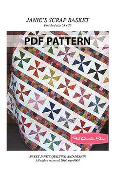 Janie's Scrap Basket Downloadable PDF Quilt Pattern Sweet Jane's Quilting and Design - Fat Quarter Shop