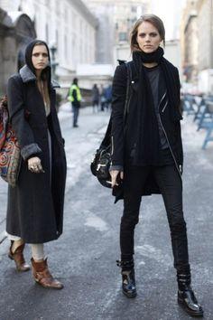 Street Style, Freja Beha Erichsen & Abbey Lee Kershaw, Tomboy Look.