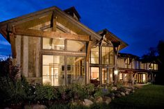 Rustic Contemporary Farmhouse in Carbondale, Colorado:David Johnston Architects Big Windows, House Windows, Commercial Architecture, Residential Architecture, Aspen House, Rustic Exterior, Rustic Luxe, Rustic Contemporary, Rustic Modern