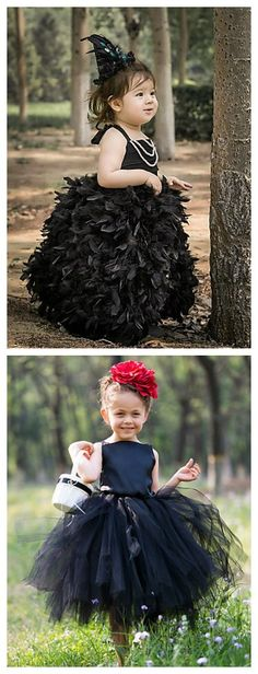 This black color dress looks so cute for your baby in the coming Halloween party! Who want this little bit of scary princess?!