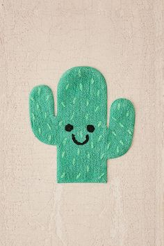Slide View: 2: Cactus Bath Mat
