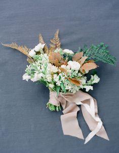 Earthy, neutral-hued bouquet designed by Sarah Winward