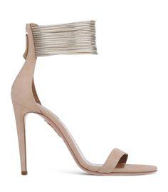 Aquazzura Beige 'Chain' Sandal