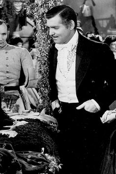 "Clark Gable as Rhett Butler in ""Gone With the Wind"""