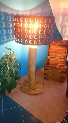 Lampe, Treibholz, Woodwork, Holz, Schwemmholz…
