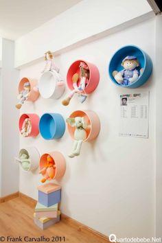 nichos coloridos para bebê
