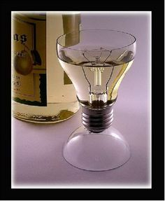 Glasses out of light bulbs