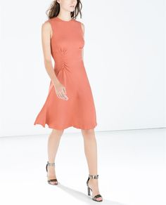 Image 3 of DRESS WITH SIDE GATHERING from Zara
