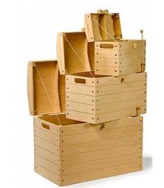Venta Set de 3 baules o Arcones infantiles de madera, en 3 tamaños diferentes. Ref Berlín 1804. Tres cofres para niños