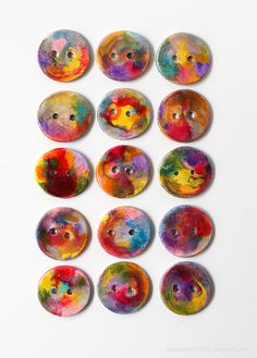 How to make clay buttons