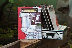 "Vinyl-Klemmbrett A5 ""Ritter"" Shops, Vinyl, Magazine Rack, Storage, Decor, Paper, Stationery Set, Boards, Purse Storage"